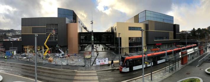 Bilde fra bybane kort tid før åpning